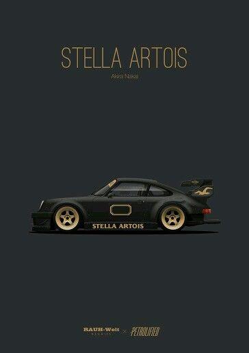 Pin By Yuri Shin On Porsche 911 Racing Automotive Artwork Porsche Cars Stella Artois