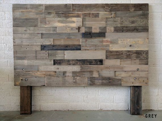 Reclaimed Recycled Wood Salvaged Grey Headboard Head Board King Queen Full Twin Cali California Bed Diy Wood Headboard Wood Headboard Reclaimed Wood Headboard