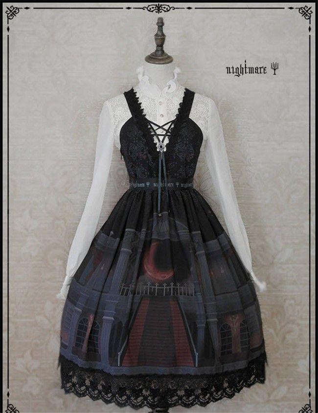 Nightmare -The Moon Observatory- Gothic Lolita JSK - My Lolita Dress