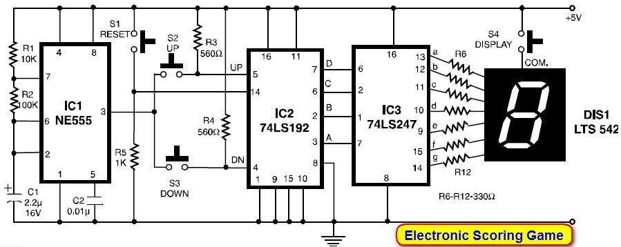 Swell Electronic Scoring Game Circuit Diagram 1 In 2019 Circuit Wiring Database Lotapmagn4X4Andersnl