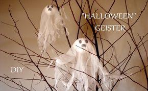 DIY: Halloween Geister   Halloween Deko   Basteln mit Kindern   Just Deko