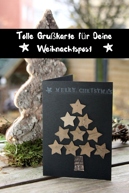 DIY Weihnachtskarten, Grußkarten DIY, einfach selbst gemacht