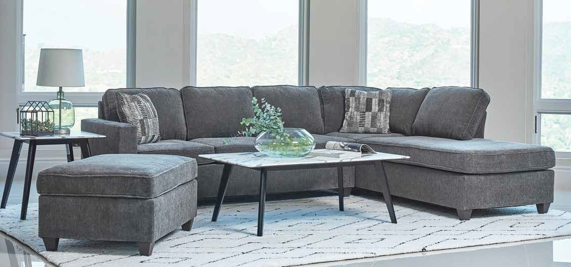 Chenille Fabric Sectional Sofa