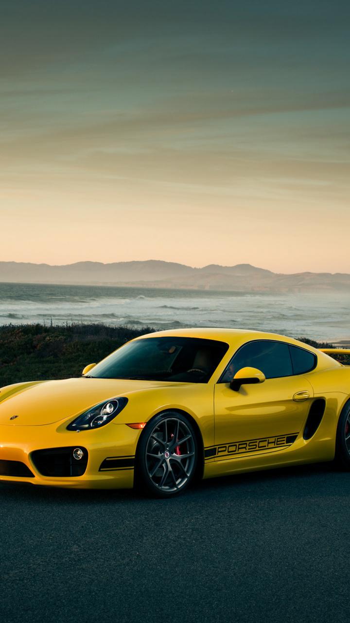 720x1280 Porsche Cayman Off Road Yellow Car Wallpaper Car Wallpapers Yellow Car Porsche