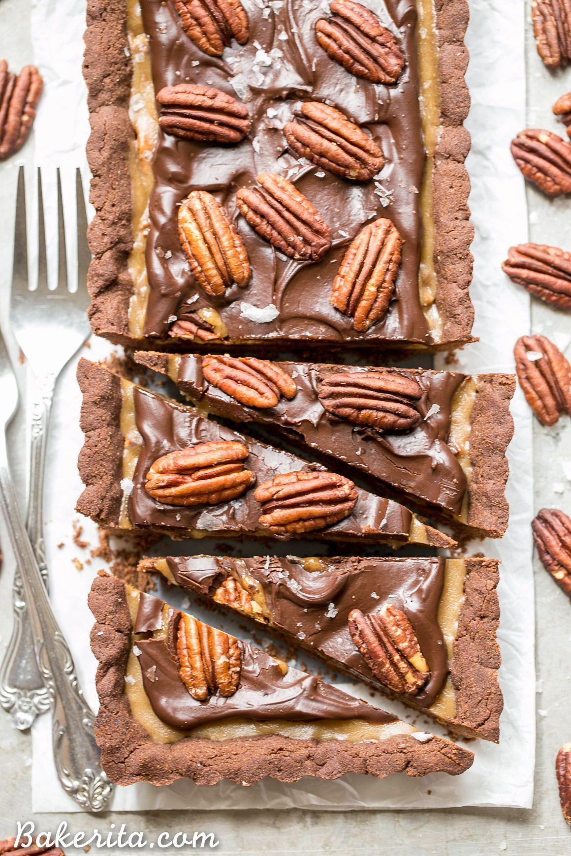 Chocolate Pecan Tart Gluten Free Paleo Vegan Recipe Vegan