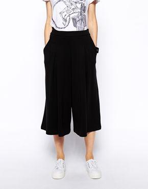 Enlarge ASOS PETITE Wide Leg Culottes in Soft Premium Ponte