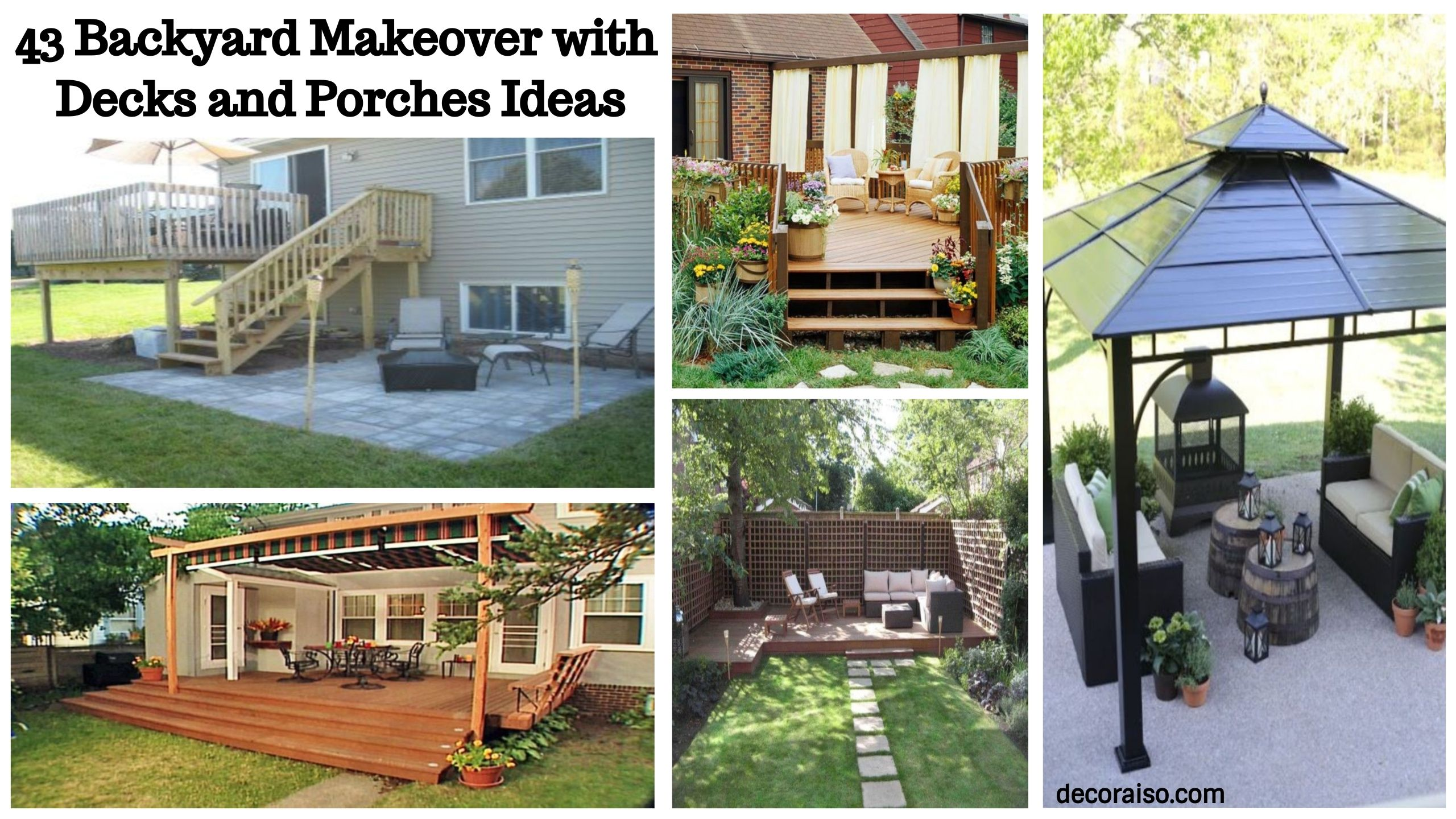 Gorgeous 43 Backyard Makeover With Decks And Porches Ideas Httpdecoraisocom