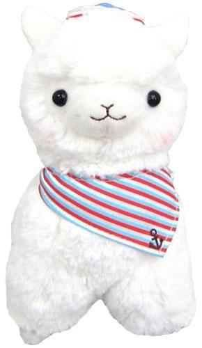 "Llama White Sailor Alpaca 12"" Plush"