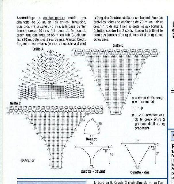 Crochet Patterns Free Chart For Crochet Bikini Swimsuit 2 Bikini
