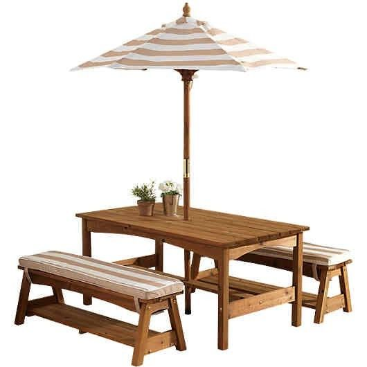 Pin By Lara Issa On Garten Kids Outdoor Table Farmhouse Outdoor Furniture Table And Bench Set