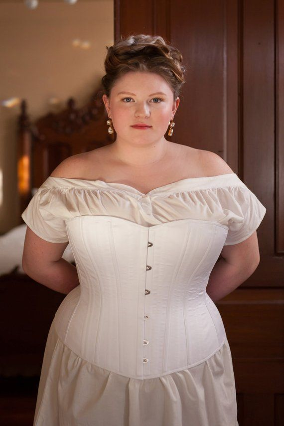 efe45e96c Custom Fit 1880 s Victorian Corset in Plus Size Range for Living History