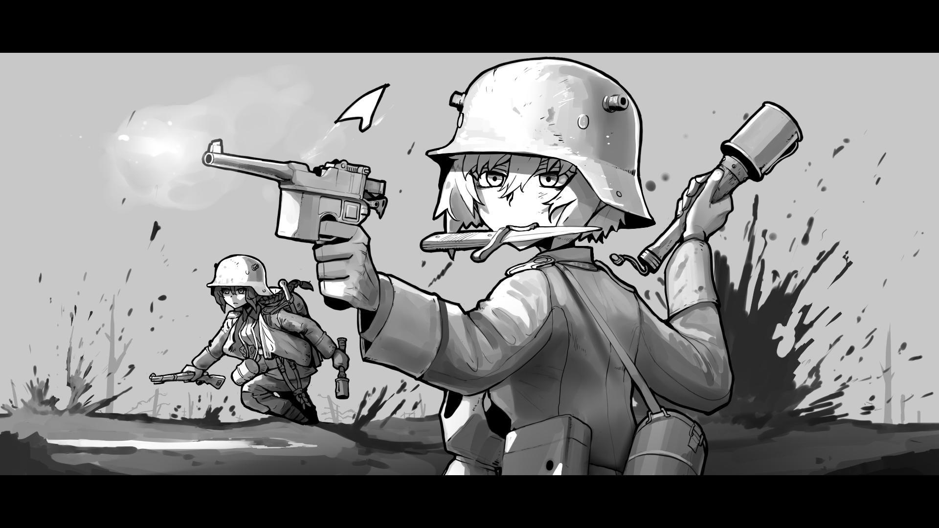 Erica On Twitter Anime Military Military Drawings War Art