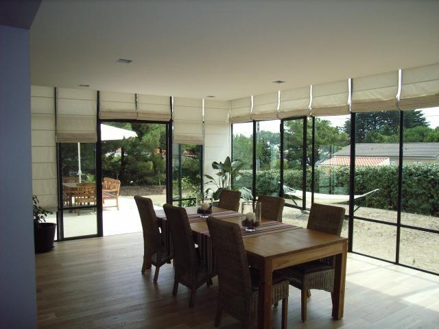 Photo verri re veranda acier habitable a l 39 annee store for Veranda habitable