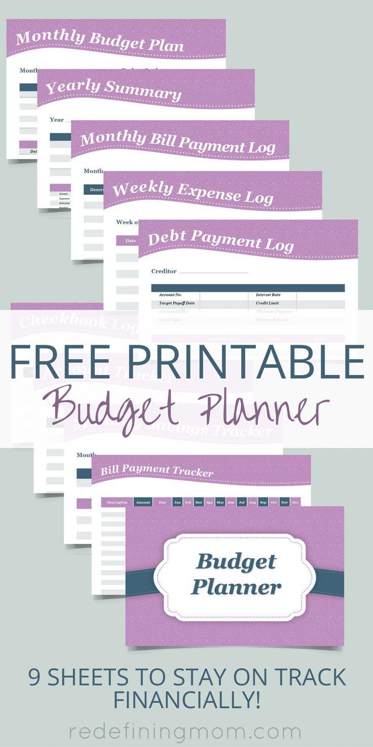 Budget planner worksheet free download