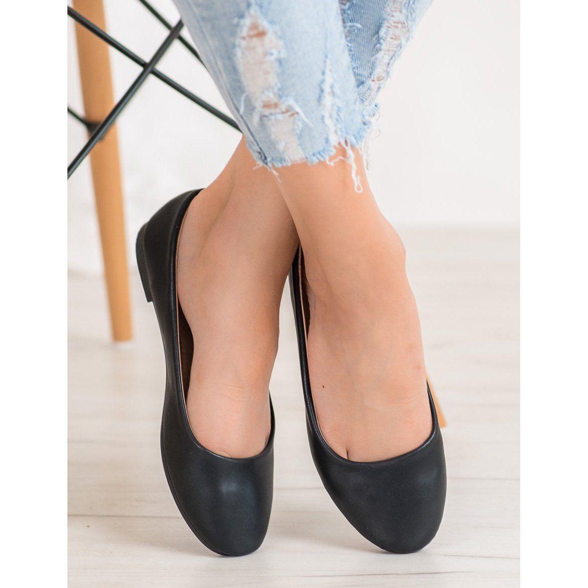 Diamantique Czarne Balerinki Pumps Shoes Flats Shoes