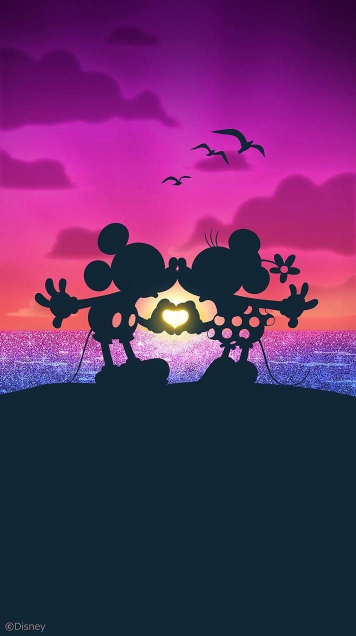 Disney S Mickey Minnie 画像あり ディズニー背景のイラスト