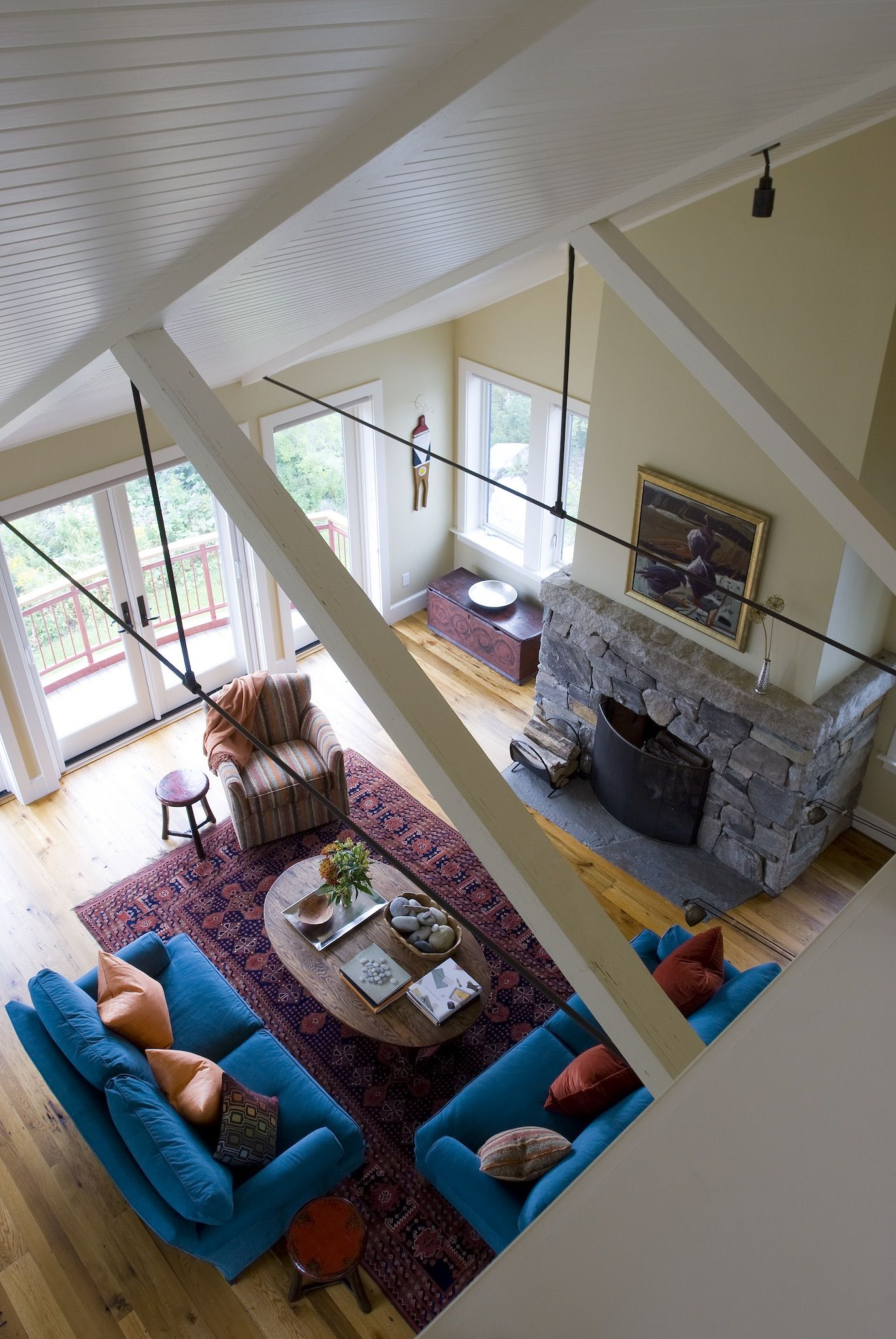 Loft Above Living Room Vaulted Ceiling Above Living Space