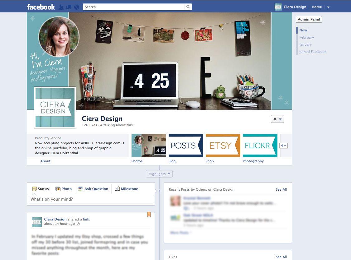 Design Tips Facebook Timeline For Pages Facebook Timeline Blog Resources Online Blog