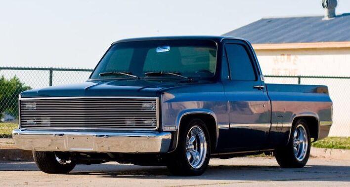 1984 Silverado Dropped Phantom Billet Grille Custom Chevy Trucks Custom Grill C10 Chevy Truck