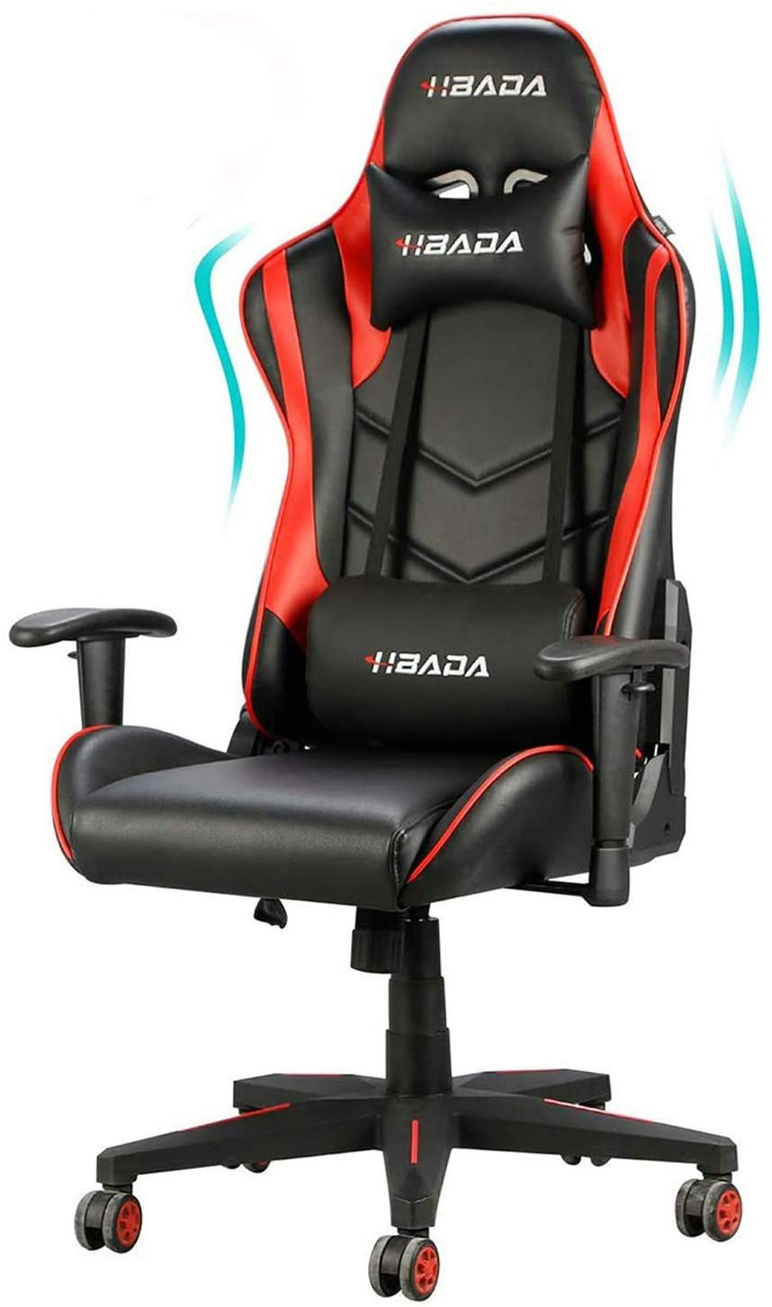 Hbada Gaming Chair Racing Style Ergonomic High Back Computer Chair With Height Adjustment Headrest In 2020 Computer Chair Gaming Chair Gamer Chair