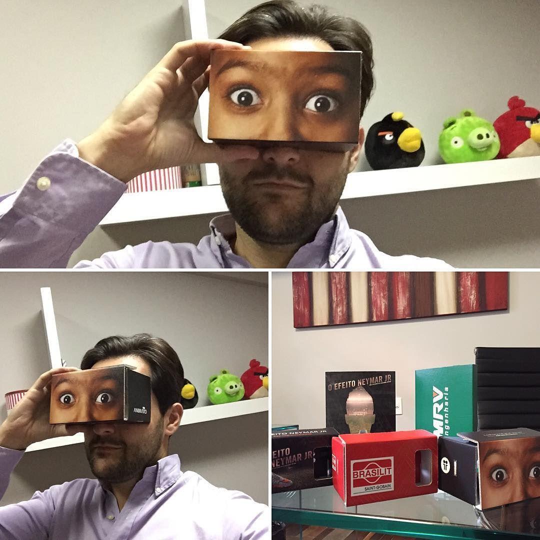 An awesome Virtual Reality pic! Chegou o Cardboard da @animatto! Quer dar uma olhadinha e ficar com essa cara? Só chegar aqui. Look beyond what you see! #google #googlecardboard #cardboard #animatto #animatto12 #lookbeyondwhatyousee #innovation #vr #virtualreality by guportes check us out: http://bit.ly/1KyLetq
