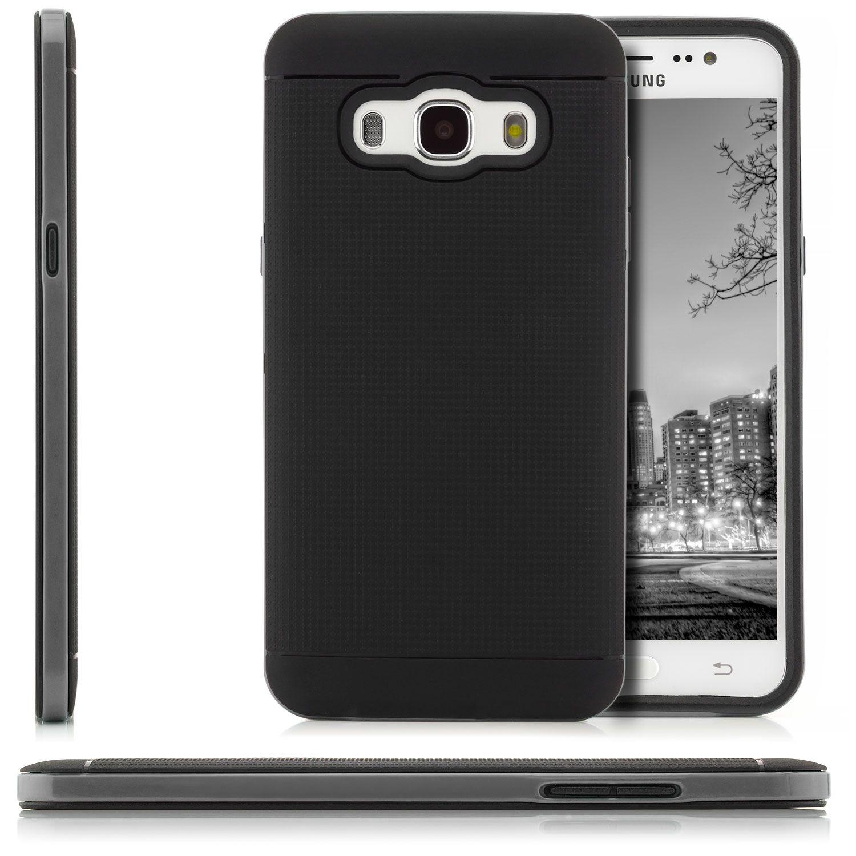 AR Silikon Back Cover für Samsung Galaxy J5 2016 Schwarz Grau