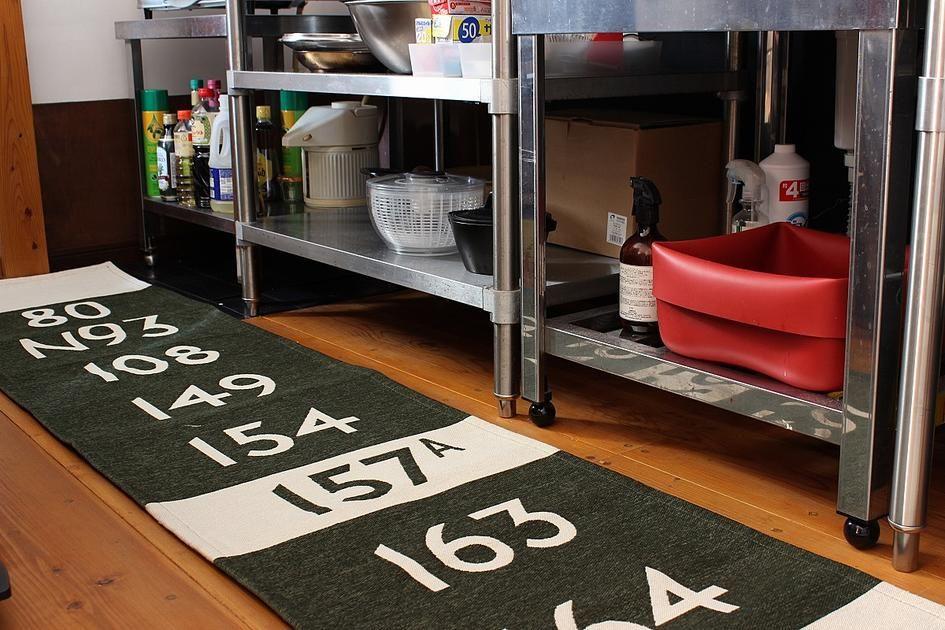 [50×180cm]LONDON BUS STOPキッチンマット(ブラック):ミッドセンチュリー,ヴィンテージ&レトロ,ブラック,Home's Style(ホームズスタイル)のラグ・マットの画像