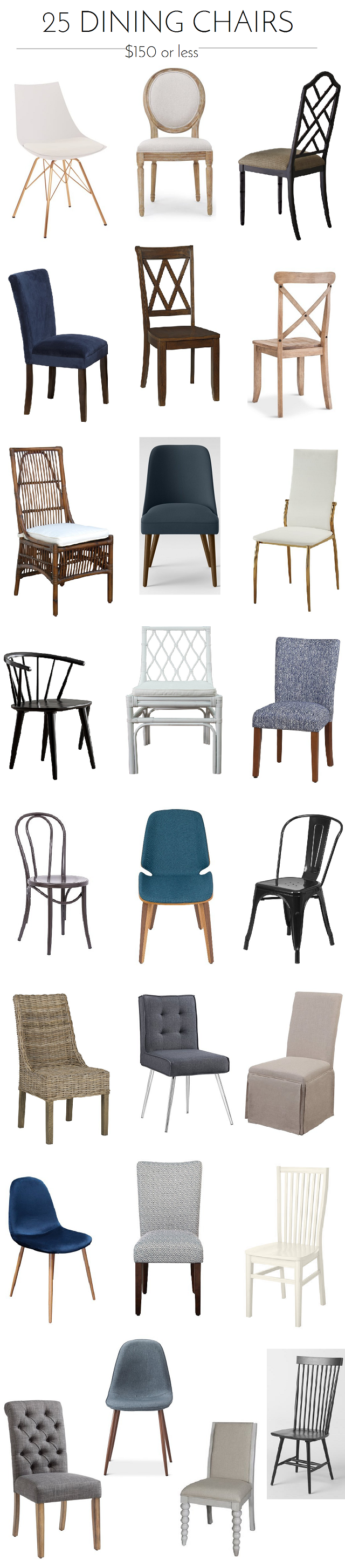 Holiday Prep 9 Dining Chairs Under $9   Emily A. Clark ...