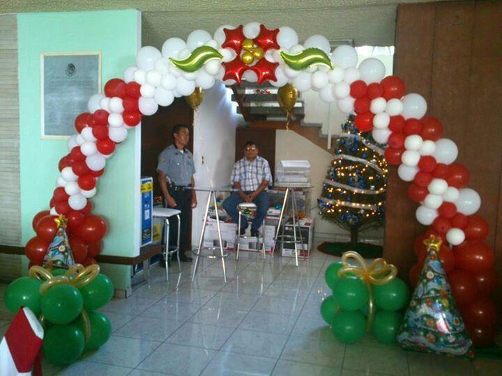 Arco navidad | decoración con globos | Navidad, Decoración