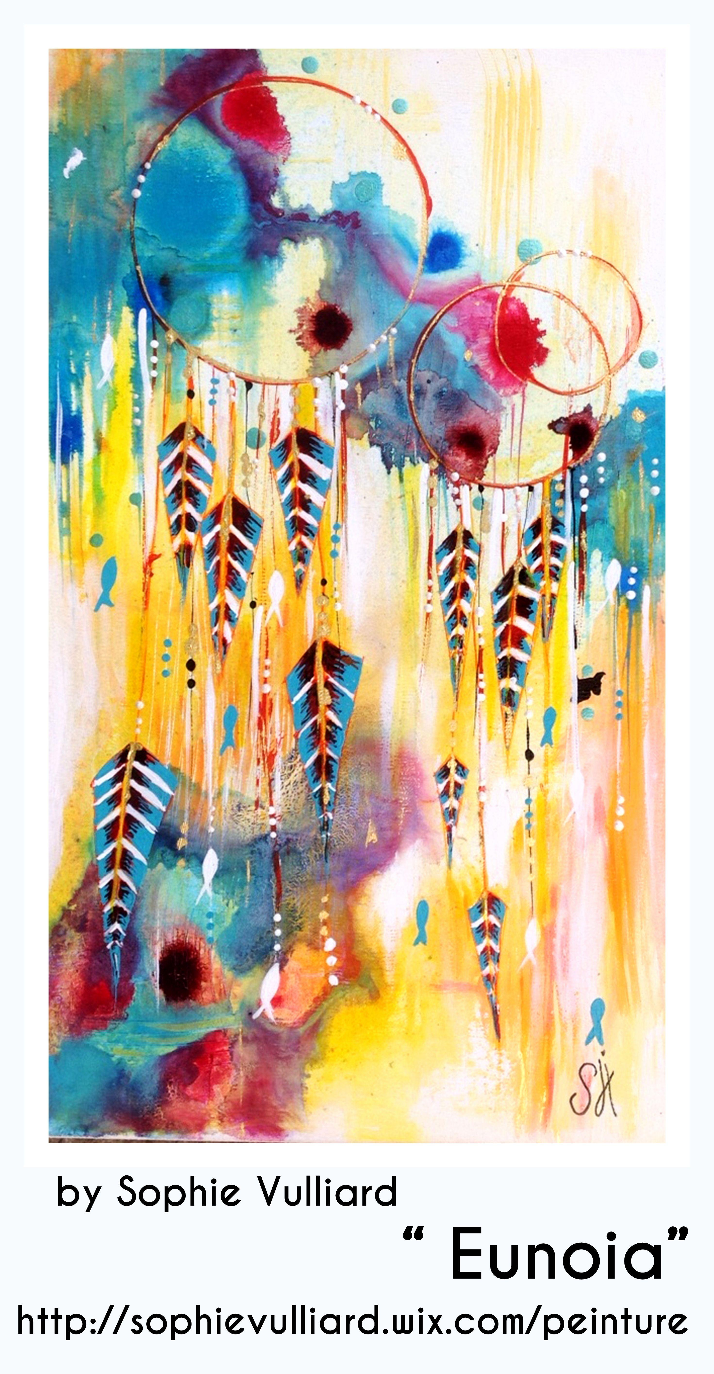 By Sophie Vulliard Peinture Intuitive A L Acrylique Sur Toile