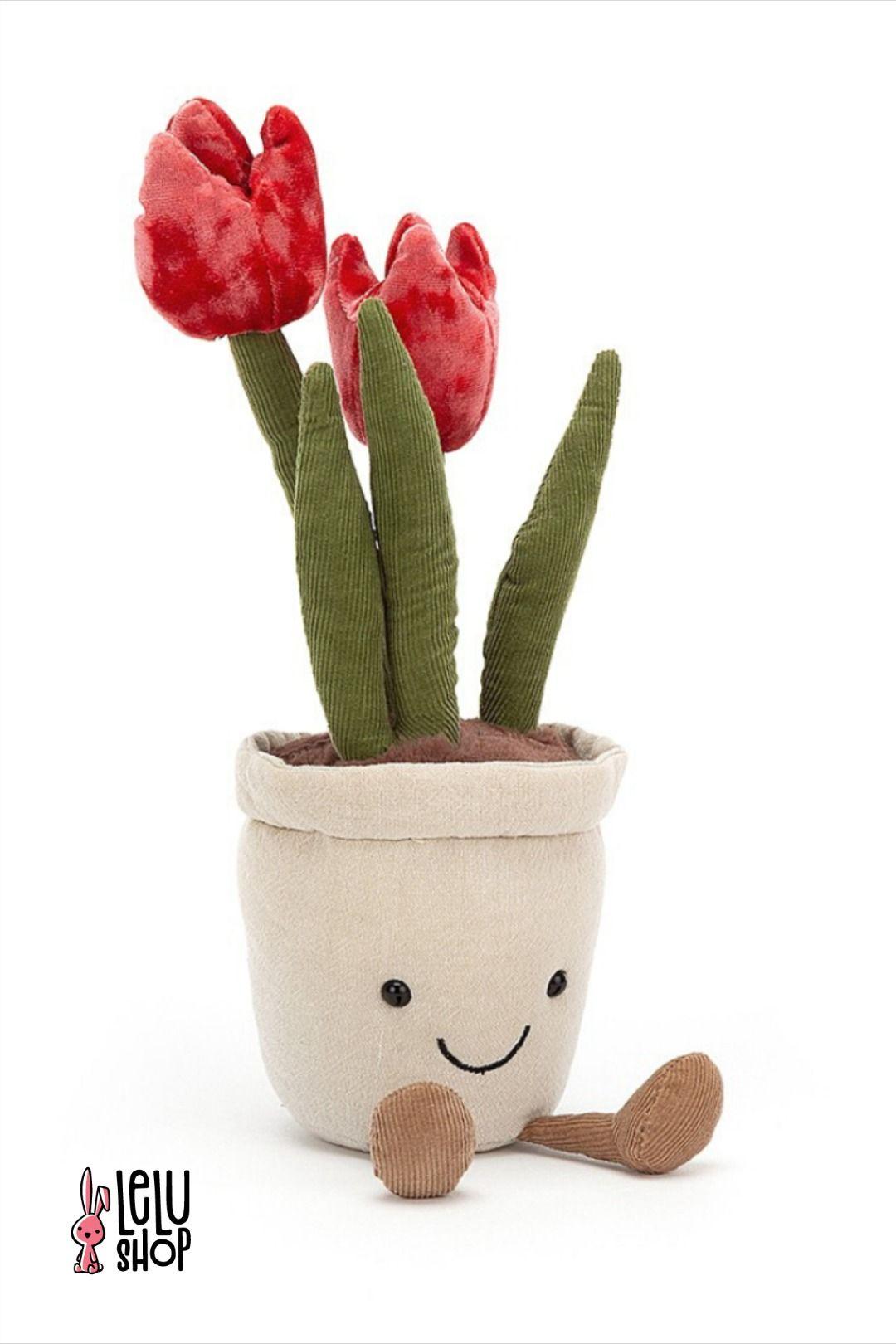 Jellycat Amuse Kwiatek Tulipan 23 Cm Tulip Decor Toys Jellycat