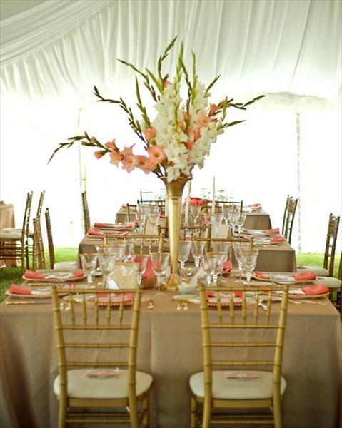 Gladiolus wedding on pinterest centerpiece