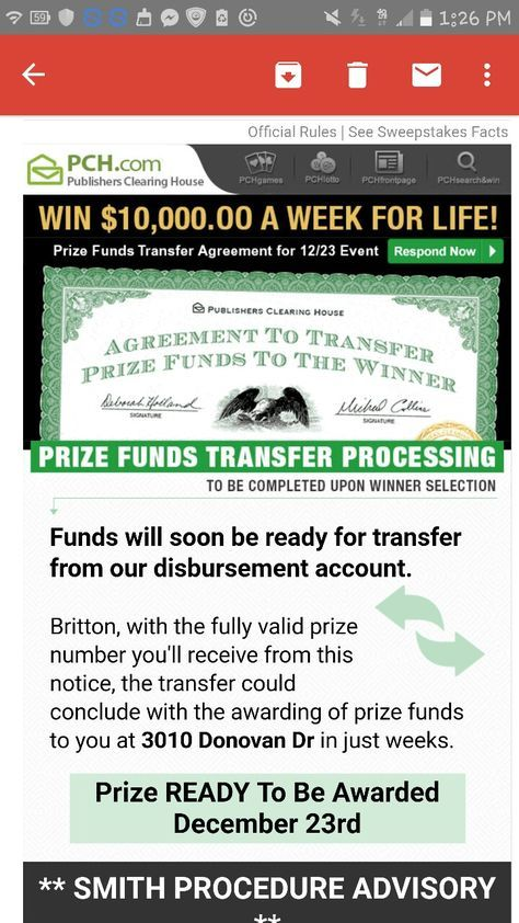 The dream come true sweepstakes scam