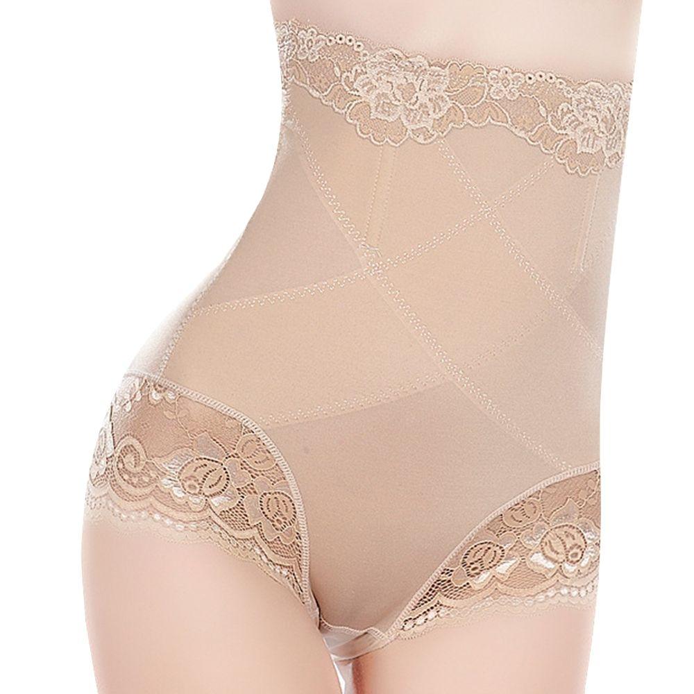 rather be Women High Waist Panty Brief Underwear Shapewear Belly Girdle Slimming Thong Panties