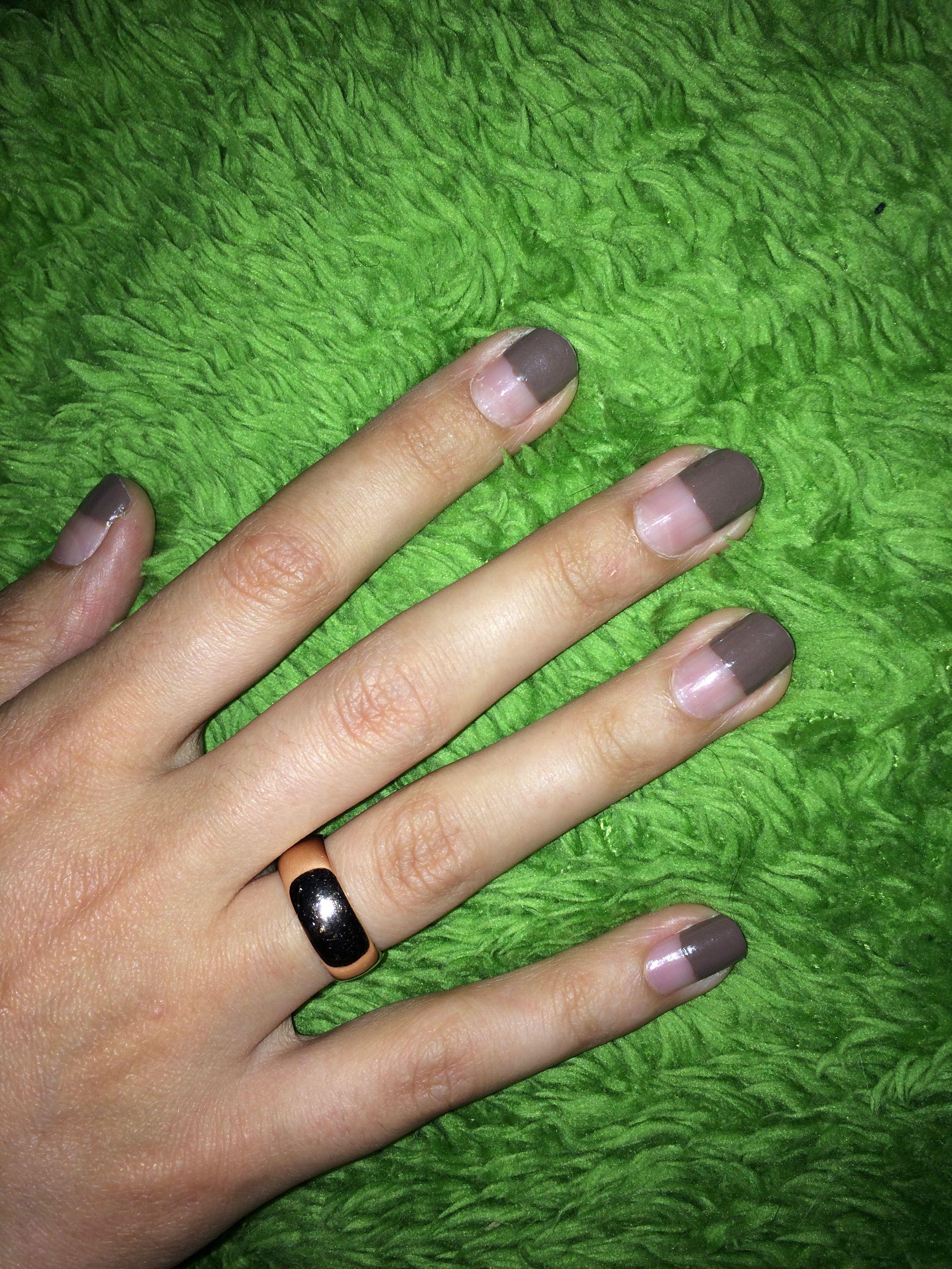 Half Dip (My own nails)   Nail Art   Pinterest   Dips