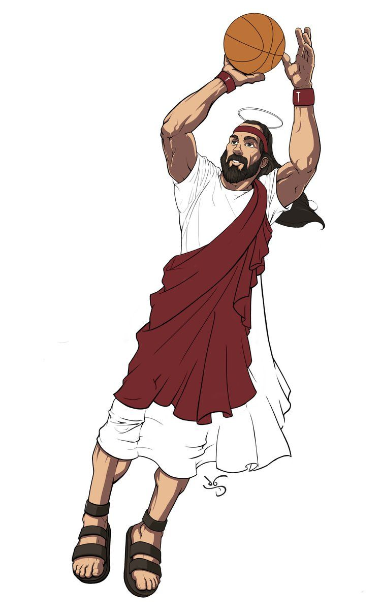 Jumpshot Jesus By Jason Kuczek Artwork Art Drawings Anime