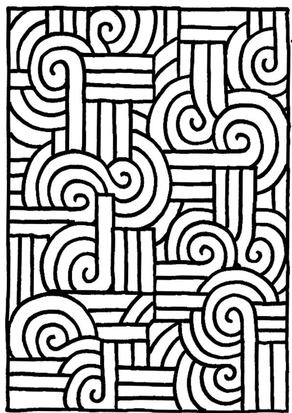 Dibujos para colorear geometricos esta o pinterest for Imagenes de cuadros abstractos para colorear