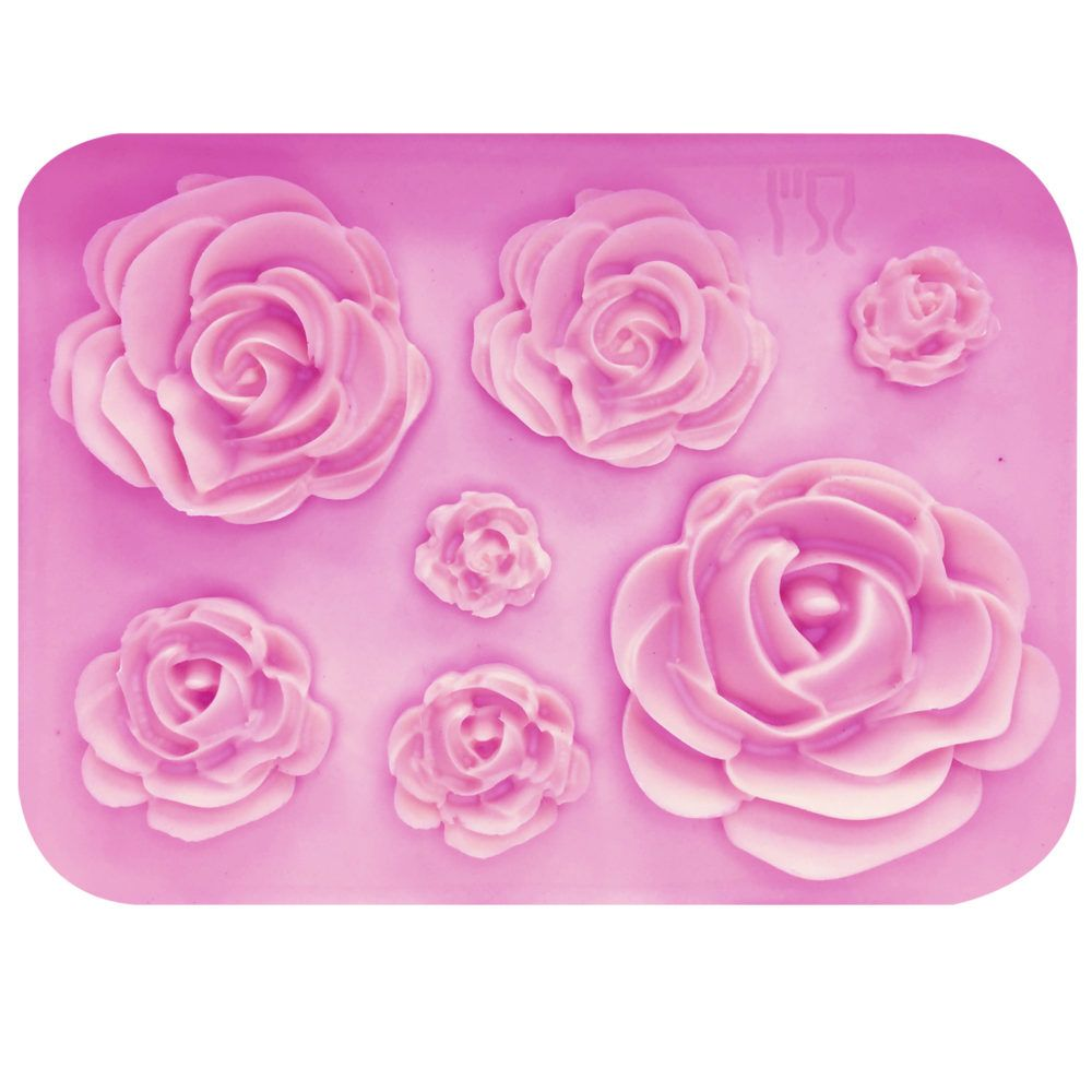 3D Rose Flower Silicone Cookie Fondant Mold Cake Soap Chocolate Baking Mould Z