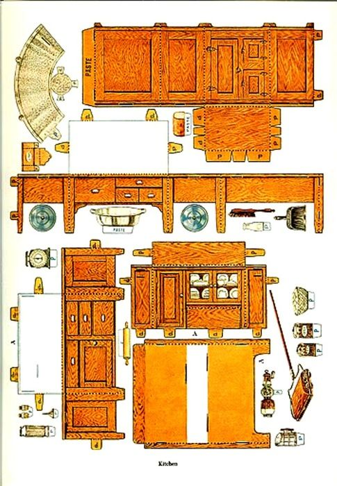 Paper Doll House Furniture Vintage Toys
