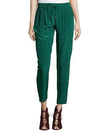 48c3da1c03f Silk Taper-Leg Pants