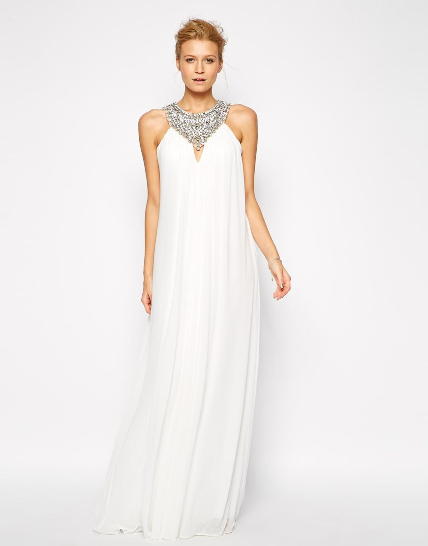 Enlarge forever unique kyla maxi dress with embellished yoke