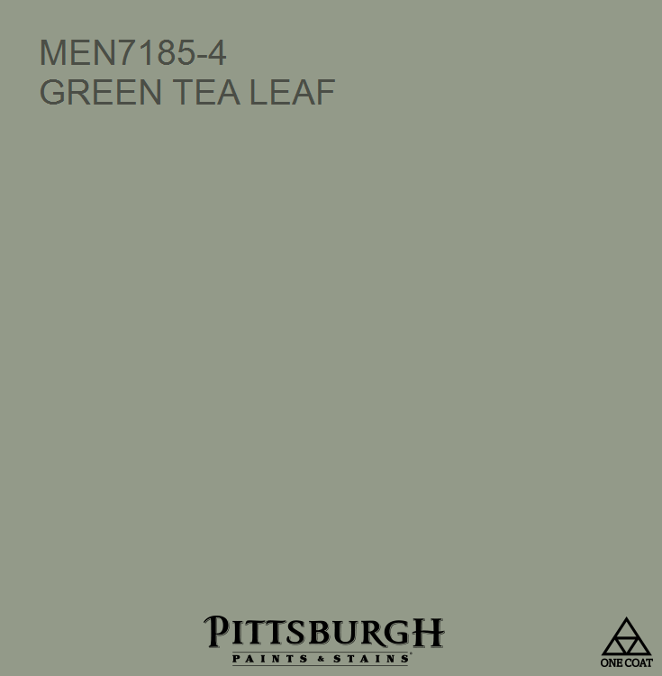 Green Tea Leaf Men7185 4 A Hue From The Pittsburgh Paints And Stains Paint Color Palette Available At Menards