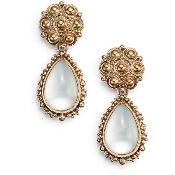 Stephen Dweck Mother-Of-Pearl Doublet Drop Earrings (290 BRL) ❤ liked on Polyvore featuring jewelry, earrings, bronze, post earrings, drop earrings, stephen dweck, post drop earrings and beaded jewelry
