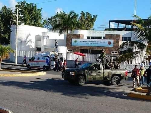 Se registra tiroteo contra Fiscalía en Cancún México