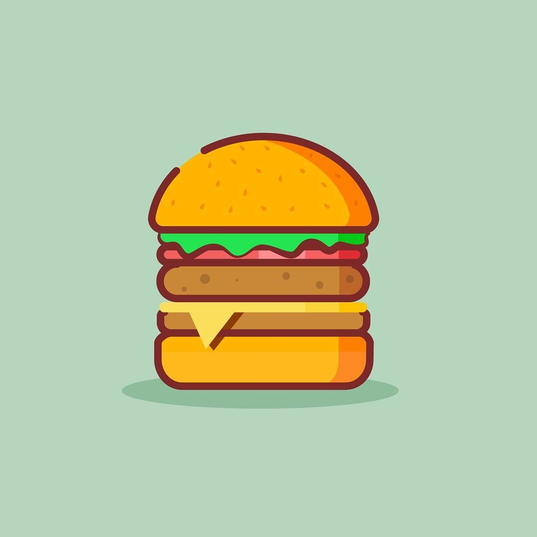 Burger Vector Art Designspiration Designed Art Vector Icon