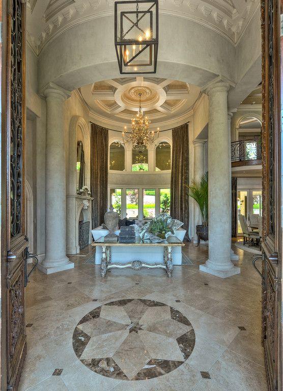 Mediterranean Villa 4 950 000 Foyer Luxury Column