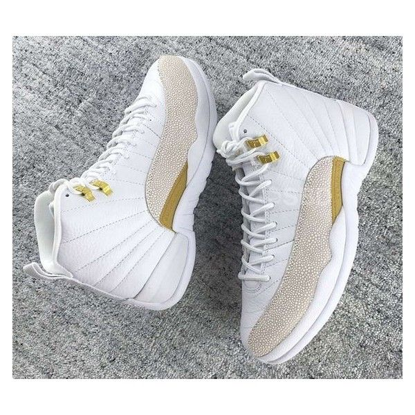 outlet store c5a36 3193f Air Jordan 12 OVO White 2016 - Sneaker Bar Detroit ❤ liked on Polyvore  featuring shoes
