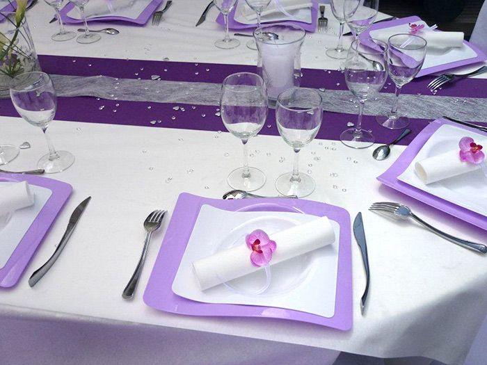 d coration de mariage de val rie et pascal blanc et violet wedding lavender and weddings. Black Bedroom Furniture Sets. Home Design Ideas
