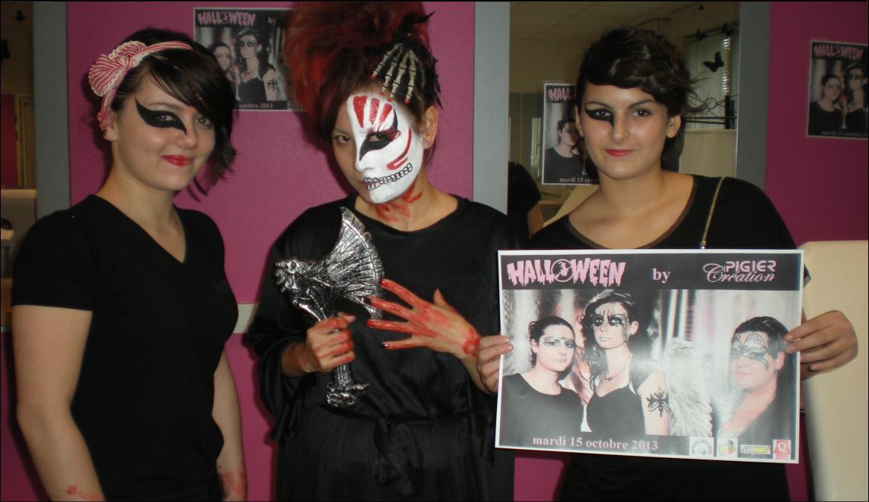 Looks d'#Halloween réalisé par les élèves de Pigier Création Troyes #hairstyle #makeup