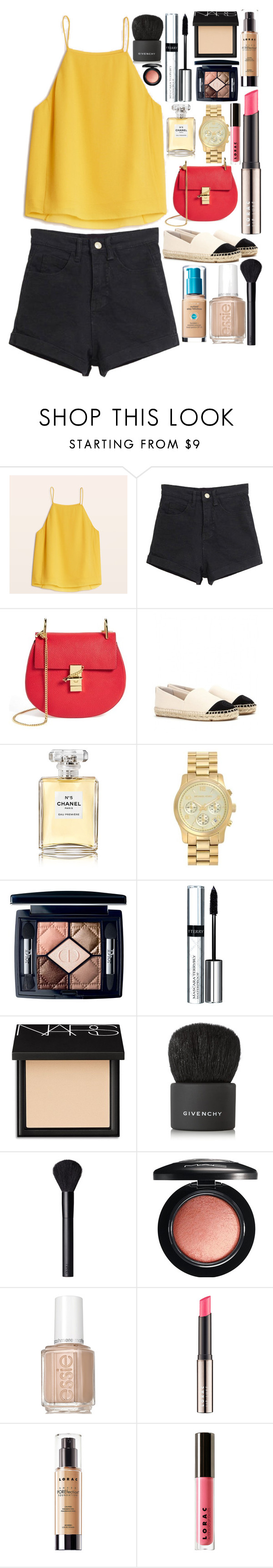 """Untitled #213"" by nthomen on Polyvore featuring Chloé, Tory Burch, Chanel, MICHAEL Michael Kors, Christian Dior, By Terry, NARS Cosmetics, Givenchy, MAC Cosmetics and Essie"